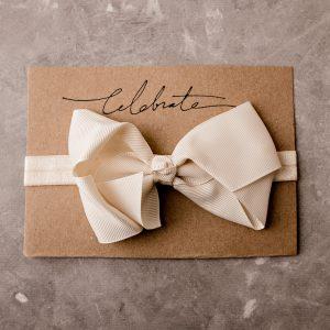 white bow headband