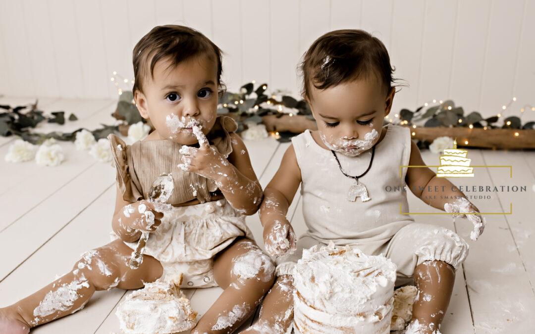 Remi and Raine – Twin Cake smash Brisbane